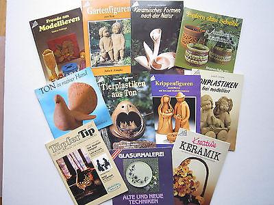 11 Töpferbücher Konvolut Töpfern Hobby Topp Brunnen-Reihe