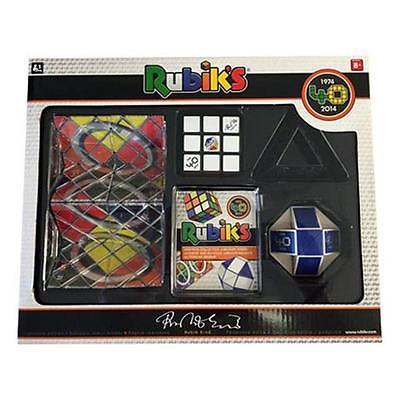 Jumbo Rubik's 3in1 Set Cube Zauberwürfel Snake Magic Signature Edition 40th anni