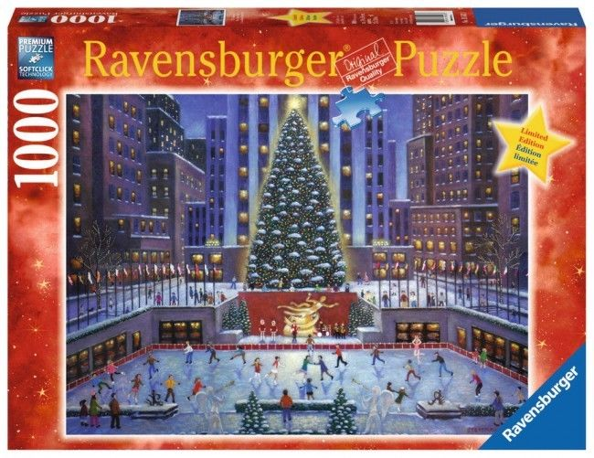 RAVENSBURGER PUZZLE*1000 TEILE*WEIHNACHTEN*NYC NEW YORK CITY CHRISTMAS*19563