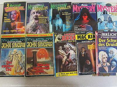 130 Taschenbücher Hefte Gruselromane Mystery Thriller John Sinclair Larry Brent
