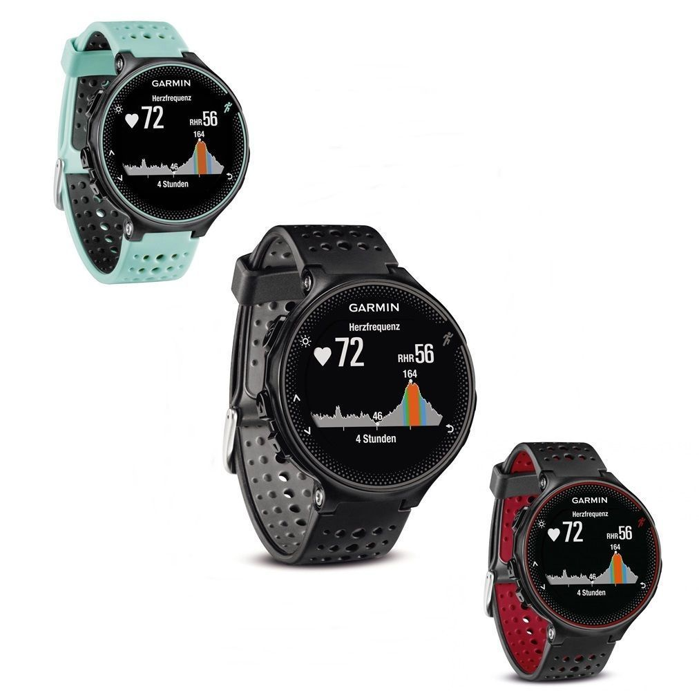 GARMIN Forerunner 235 WHR  Rot Schwarz Blau Fitness Uhr Sport GPS   *Neu&OVP*