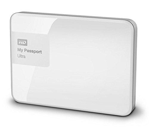 Western Digital My Passport Ultra 2 TB Externe Festplatte (bis zu 5 Gb/s, USB 3.0) brillantweiß