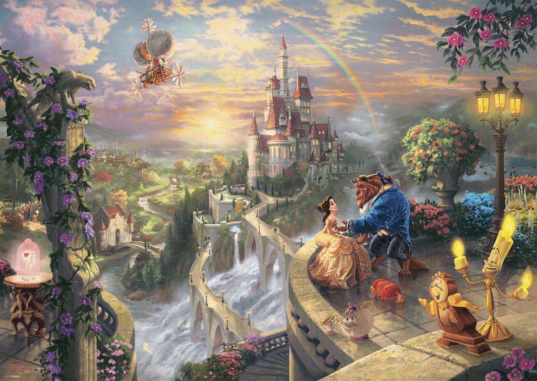 Schmidt Puzzle 59475 - Puzzle Thomas Kinkade - Disney Die Schöne und das Biest