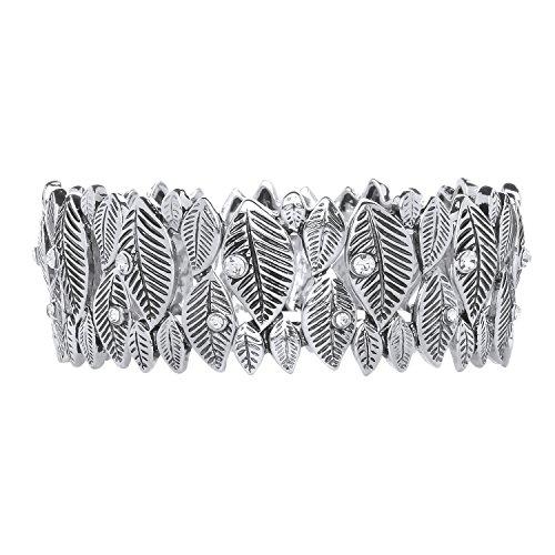 Front Row Damen-Armband Farbe antikes Silber