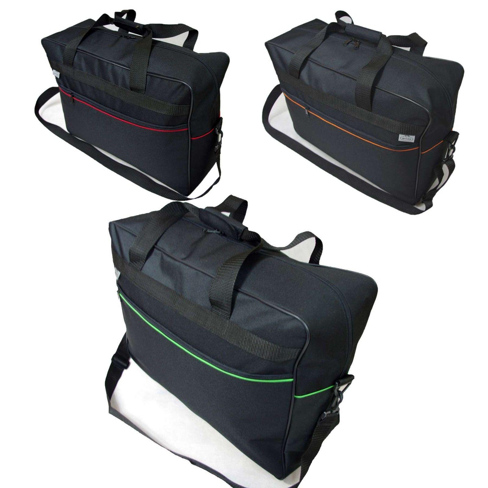 HANDGEPÄCK 55 x 40 x 20 cm Boardgepäck Bordcase Koffer Reisetasche SCHWARZ +