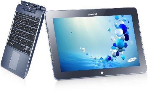 Samsung Ativ Smart PC 500T1C-A03 26,5cm (11,6 Zoll) Convertible Notebook (Intel Atom Z2760, 1,5 GHz, Wifi, 2GB RAM, 64GB Flashspeicher, Intel SGX545, Touchscreen, Win 8) metall blau inkl. Tastatur und Pen