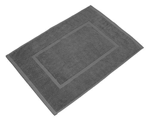 SOLEO Badvorleger Royalgrau 50 x 70cm in Premium Qualität aus 100% Baumwolle, Dichte 650 g/m², inklusive 2 Jahren Zufriedenheitsgarantie - Badematte / Badteppich / Duschvorleger