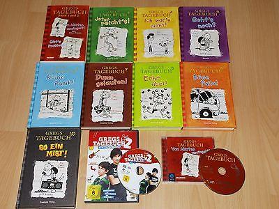Gregs Tagebuch Band 1 2 3 4 5 6 7 8 9 10 + DVD + CD  Weihnachtsgeschenk !