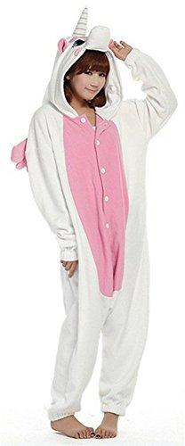 LATH.PIN Pyjama Tieroutfit Tierkostüme Schlafanzug Tier Onesize Sleepsuit mit Kapuze Erwachsene Unisex Fleece-Overall Kostüm festival tauglich (S, Rosa)