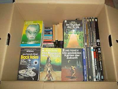 Konvolut Bücherkiste 84 Stück Science Fiction Bananenkiste Bücherpaket TB