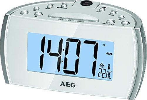 AEG MRC 4119 P Projektions-Uhrenradio weiß