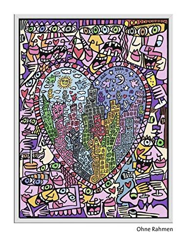Ravensburger Spieleverlag 28884 - James Rizzi: Heart not to love my city - Malen nach Zahlen, 30 x 40 cm
