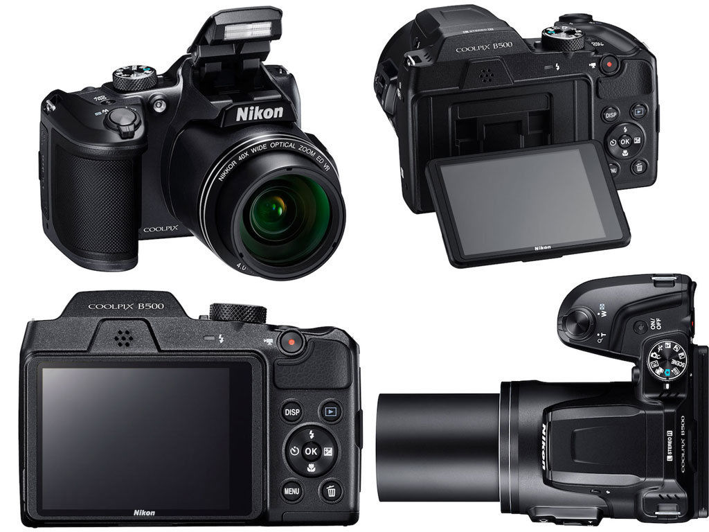 Nikon COOLPIX B500 16.0MP Digital Camera - Black  (Latest Model)  A