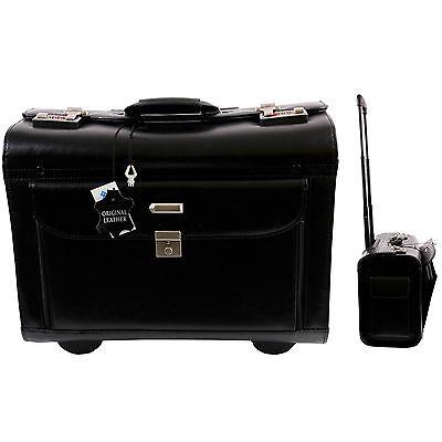 Pilotenkoffer Trolley Spear in mit Rollen Aktenkoffer Businesskoffer Handgepäck