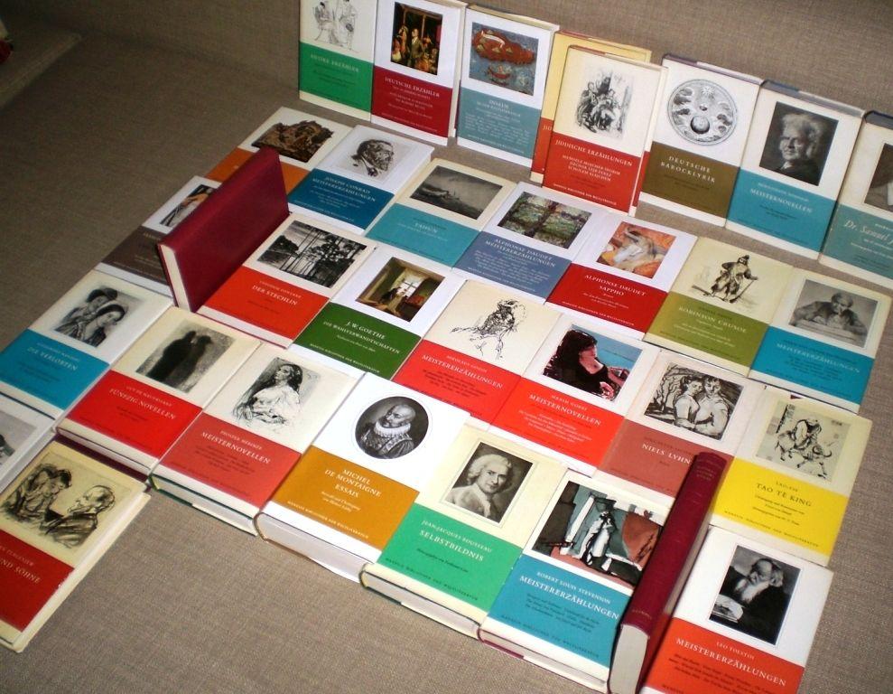 Konvolut 34 x Manesse Bibliothek der Weltliteratur Auch alte Erstausgaben!