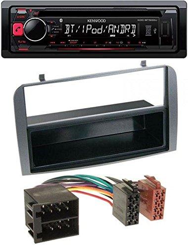 Kenwood KDC-BT500U CD MP3 USB Bluetooth AUX Autoradio für Alfa Romeo 147 GT Ablagefach anthrazit