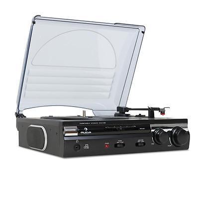 HIFI STEREO 33 45 VINYL RECORD PLAYER DISCO DJ TURNTABLE USB MP3 RECORDING AUDIO