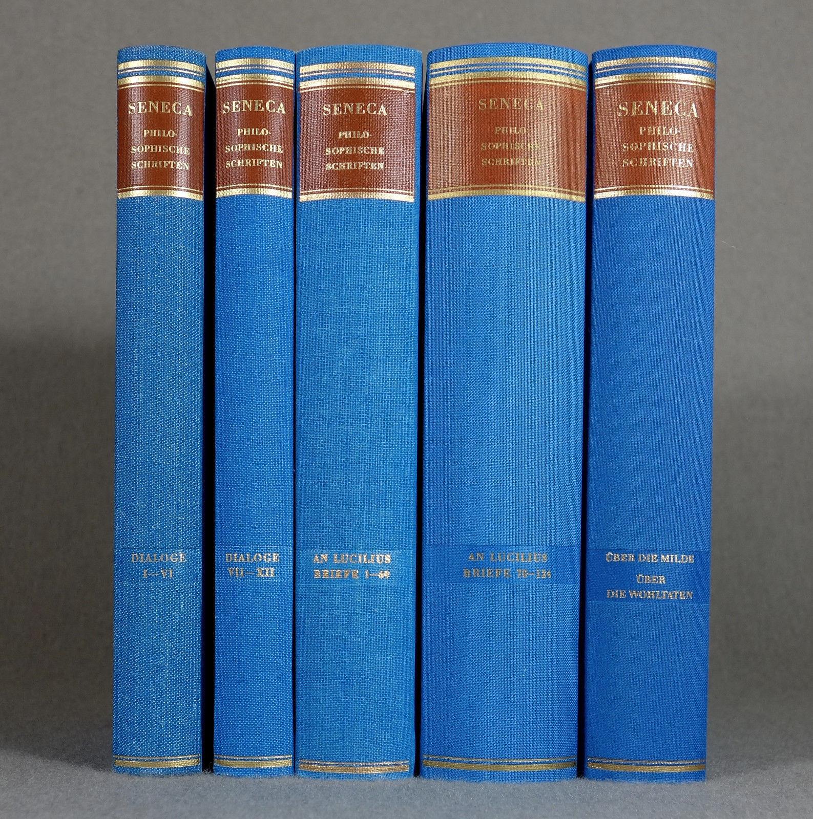 1969-89 - PHILOSOPHIE - Seneca / Werkausgabe - ANTIKE Stoiker Nero Altphilologie