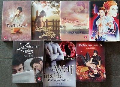 7 dt. Romane Shonen Ai Yaoi u. a. A.C. Lelis und Andrew Grey  Cursed Side