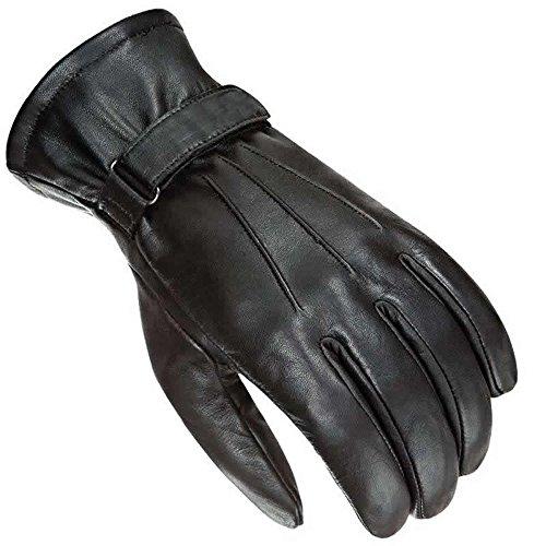 Newfacelook Herren Motorrad Handschuhe Leder Mode Bildschirm Berühren Kompatibel L