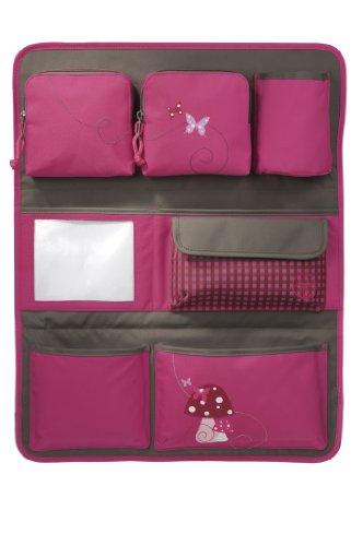 Lässig Car Wrap-to-Go Auto-Utensilientasche Autorücksitzorganizer/Rücksitztasche für Auto oder Kinderzimmer zum Hängen, Mushroom magenta