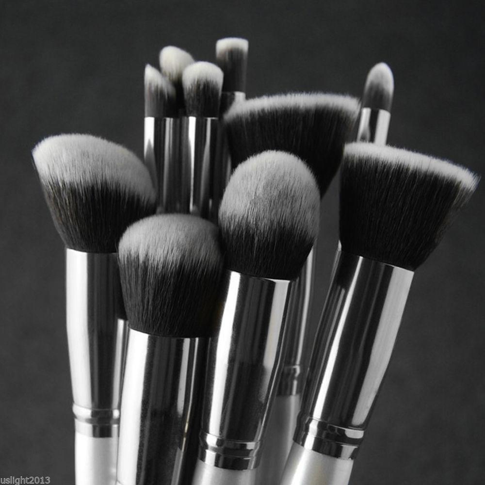 Vander 10x Profi Pinselset Foundation Pinsel Kosmetik Brush Schminkpinsel Set