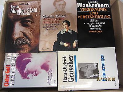 41 Bücher Biografie Biographie Memoiren Autobiografie Lebenserinnerungen