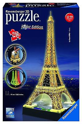 Ravensburger Puzzle, 3 D Night Edition, Eiffelturm - NEU -