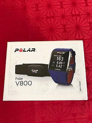 Polar V800 in blau mit GPS & Brustgurt