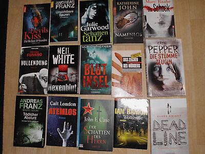 Bücherpaket 1, 15 Top Thriller, Franz, Pepper, Case, Raabe, Rankin und mehr