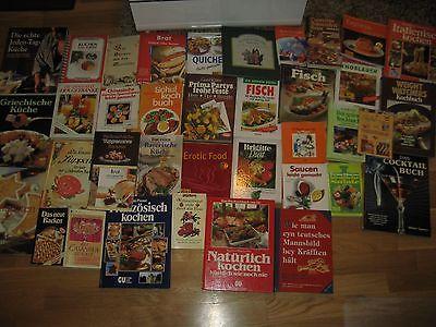 Büchersammlung 40 Stk. Kochbücher kochen backen Italien Bio .. Paket Konvolut
