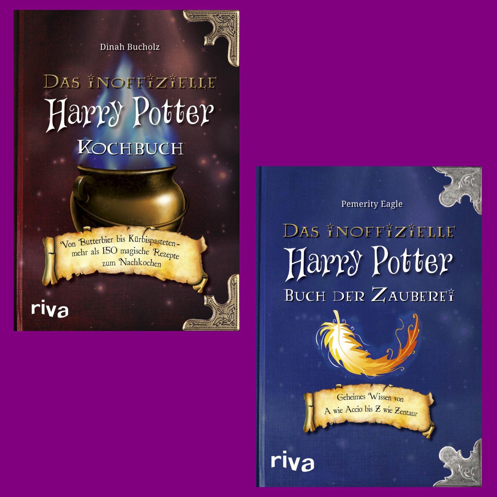 Das inoffizielle Harry-Potter-Kochbuch + Harry-Potter-Buch der Zauberei - Set