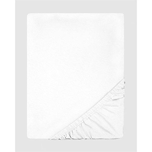 Spannbettlaken Jersey Baumwolle | viele Farben alle Größen | Spannbetttuch für Standardmatratzen | 140 x 200 bis 160 x 200 CelinaTex 0002801 Lucina schnee-weiß