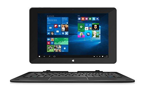 TrekStor SurfTab duo W1 WiFi, 25,7 cm (10.1 Zoll 2in1 Tablet-PC), Full-HD-Display (IPS, touch), Intel Atom x5 (Quad-Core), 2 GB RAM, 32 GB Speicher, WiFi, Windows 10 Home, schwarz
