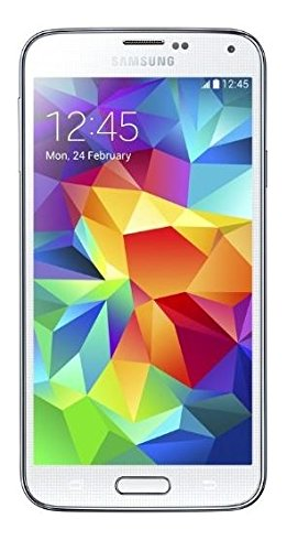 Samsung Galaxy S5 Smartphone (5,1 Zoll (12,9 cm) Touch-Display, 16 GB Speicher, Android 4.4) shimmery-white