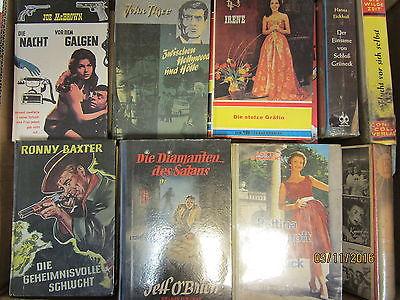 46 Bücher alte Leihbücher Krimi Kriminalromane Western Romane
