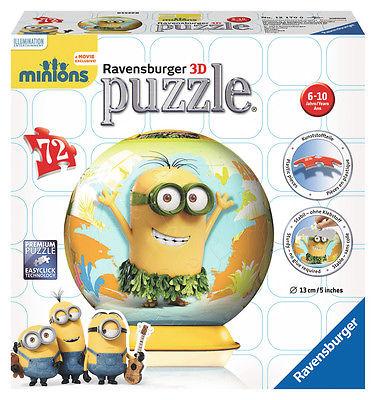 Ravensburger 12170 - Minions 3D, 72 Teile Puzzleball