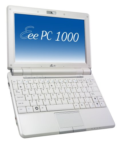 Asus Eee PC 1000H 25,4 cm (10 Zoll) WSVGA Netbook (Intel Atom N270 1,6GHz, 1GB RAM, 160GB HDD, XP Home) weiß