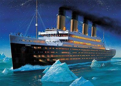Puzzle Pappe Trefl 1000 Teile Schiff Dampfer Kreuzfahrtschiff Titanic NEU 10080