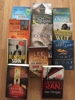 Krimi-Kiste mit 11 Bücher - bunt gemischt