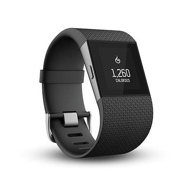 Fitbit Surge Fitness Super Watch schwarz L Pulsuhr mit Herzfrequenzmesser