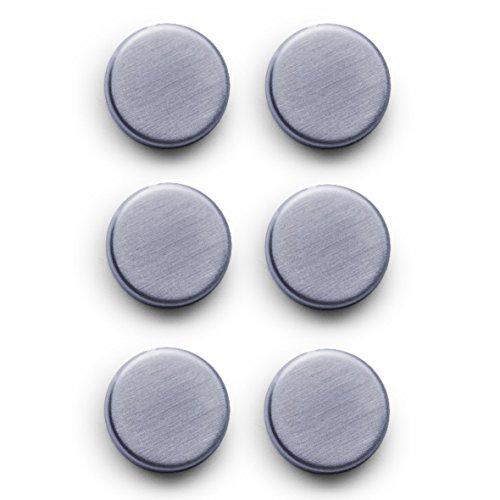 Zeller 11203 Magnet-Set 6-teilig, Ø 2.7 cm, edelstahl
