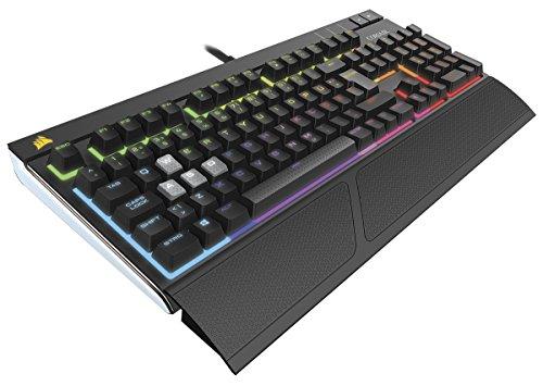 Corsair Gaming CH-9000121-DE Strafe RGB Mechanische Gaming Tastatur (Cherry MX Silent Performance Multi-Colour RGB Beleuchtung) schwarz