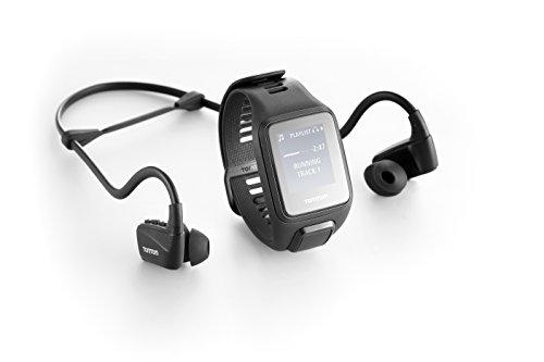 TomTom Spark 3 Musik GPS-Fitnessuhr Inkl. Bluetooth Kopfhörer (3GB Speicherplatz für Musik, Routenfunktion, Multisport-Modus, 24/7 Aktivitäts-Tracking)