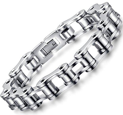 Ostan - Gotik 316L Edelstahl Armbänder Armreifen Herren Armband - Neue Mode Schmuck Armschmuck, Silber
