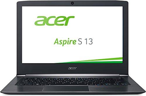 Acer Aspire S 13 (S5-371-767P) 33,8cm (13,3 Zoll Full HD IPS) Notebook (Intel Core i7-6500U, 8GB RAM, 512GB SSD, Intel HD Graphics 520, Win 10 Home) schwarz