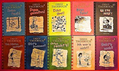GREGS TAGEBUCH  SAMMLUNG BAND 1 - 10  JEFF KINNEY  BAUMHAUS VERLAG GEB. AUSGABE