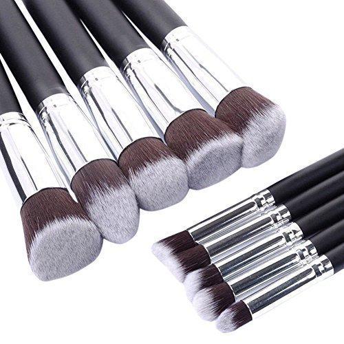 Eleacc® 10tlg Make Up Pinsel Kosmetikpinsel Gesichtspinsel Pinselset Schminkpinsel Kosmetik Brush Schwarz