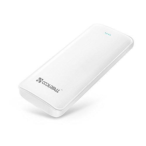 Externer Akku, Coolreall 15600mAh Powerbank, Zusatzakku, Ladegerät mit Dual USB Ausgang, Portable Energiebank für iPhone 6/5/4, iPad, iPod (Weiß)
