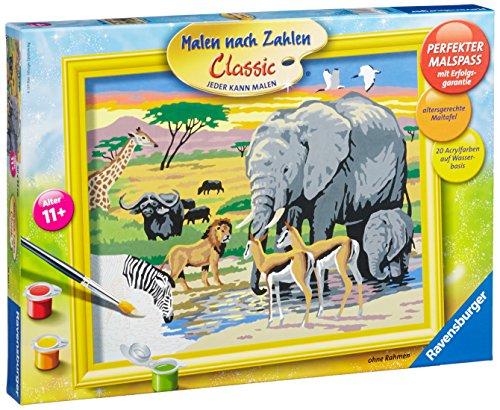 Ravensburger 28403 - Tiere in Afrika Malen nach Zahlen, 30 x 24 cm